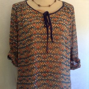 Daniel Rainn sheer blouse size S